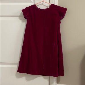 Gymboree Red/Maroon Velvet girls dress